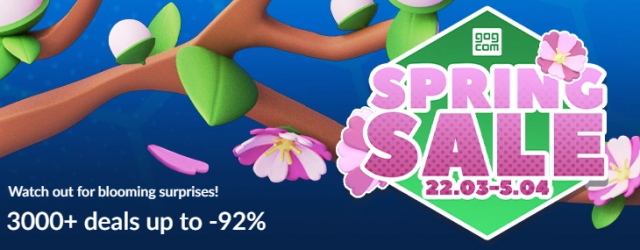 GOG.com Spring sale with up to 92% off!!